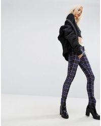 Tripp Nyc - Tartan Skinny Jeans - Lyst