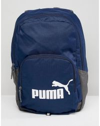 PUMA - Phase Backpack In Navy 07358902 - Lyst