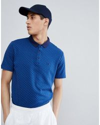 Gio Goi - Polo Shirt With Logo In Navy - Lyst