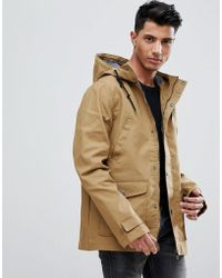 Threadbare - Hooded Coat With Toggles - Lyst
