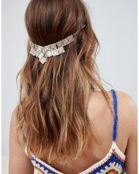 ASOS - Design Filigree Diamond Shapes Back Hair Chain - Lyst