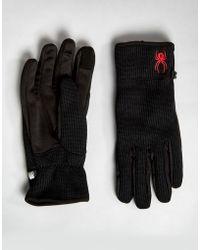 Spyder - Stryke Fleece Conduct Gloves Ski - Lyst