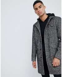 Only & Sons - Stand Collar Wool Overcoat - Lyst