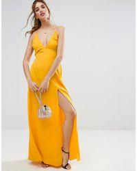 ASOS | Plunge Strap Back Maxi Dress | Lyst
