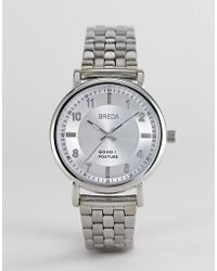 Breda - Unisex Stainless Steel Watch In Silver - Lyst