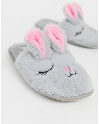 Truffle Collection - Fluffy Easter Bunny Slippers - Lyst