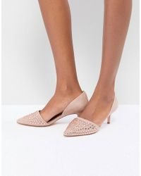 Coast - Beaded Kitten Heel Shoes - Lyst