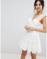 Forever New - Tiered Lace Mini Dress - Lyst