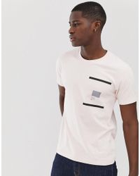 Nudie Jeans - Co Kurt Facts Not Stories T-shirt In Pink - Lyst