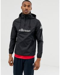 Ellesse - Ion Overhead Jacket With Reflective Logo In Black - Lyst