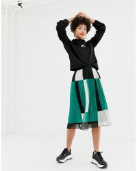 NA-KD - Pleated Skirt With Block Colour Detailing - Lyst