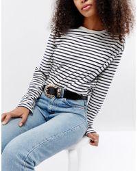 ASOS - Chain Buckle Patent Jeans Belt - Lyst