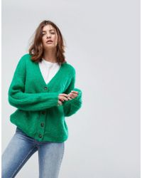 ASOS - Knitted Cardigan In Brushed Yarn - Lyst