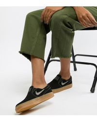 Nike - Nike Zoom Black Stefan Janoski Sliptrainers - Lyst