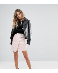 Missguided - Vinyl Buckle Strap Mini Skirt - Lyst