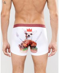 ASOS - Christmas Trunks With Hungry Dog Print - Lyst