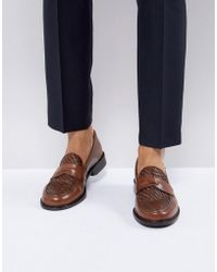 Farah - Chalice Woven Penny Loafers - Lyst