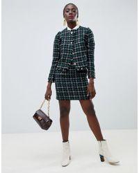 Warehouse - Pelmet Skirt In Tweed Co-ord - Lyst