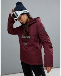 Napapijri - Rainforest Winter Jacket In Burgundy - Lyst