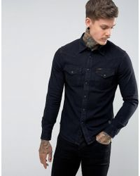 Lee Jeans - Slim Fit Western Shirt Washed Black - Lyst