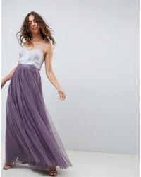 Needle   Thread - Falda larga de tul en violeta de - Lyst dedc9dd2ae6e