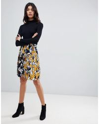 French Connection - Pleated Mini Skirt - Lyst