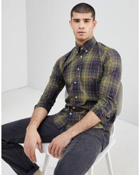 Barbour - Herbert Slim Fit Classic Check Shirt In Green - Lyst