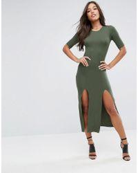 ASOS - Ultimate Double Split Front Maxi Dress - Lyst
