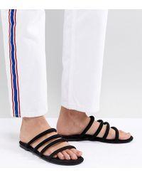 Monki - Multi Strap Sandals In Black - Lyst
