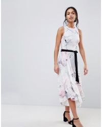 Coast - Soft Floral Print Swing Dress - Lyst