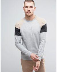 Casual Friday - Sweatshirt With Raglan Sleeve Panels - Lyst