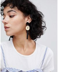 ASOS | Disc And Resin Shape Drop Earrings | Lyst