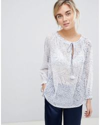 See U Soon - Tunic Blouse With Drawstring Detail - Lyst