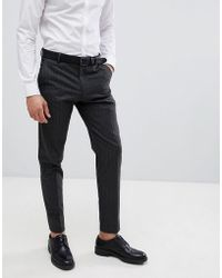 SELECTED - Homme Tapered Suit Trouser In Pinstripe - Lyst