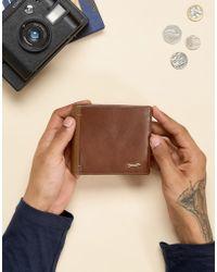 Paul Costelloe - Contrast Leather Wallet In Tan - Lyst