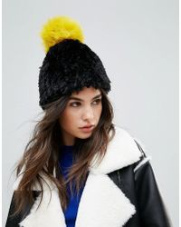 Urbancode - Soft Knitted Beanie Hat With Contrast Pom Pom - Lyst