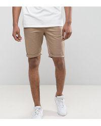 ASOS - Asos Tall Skinny Chino Shorts In Stone - Lyst