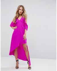 Adelyn Rae - Oliana Asymmetric Cold Shoulder Dress - Lyst