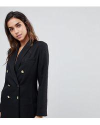 Missguided - Longline Tailored Blazer - Lyst