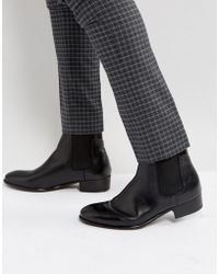 H by Hudson - Watts Leather Chelsea Boots - Lyst