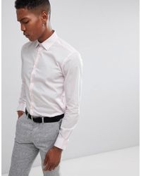 French Connection - Slim Fit Poplin Shirt - Lyst