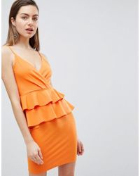 Ivyrevel - Cami Mini Dress With Double Ruffle Peplum - Lyst