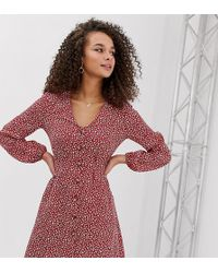 421cd8d445ab Lyst - Express Berry Fitted Off The Shoulder Dress in Red
