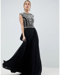 Jovani - Heavily Embellished Maxi Dress - Lyst