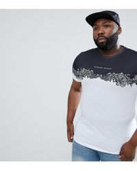 Criminal Damage - T-shirt In White With Baroque Panel Exclusive To Asos - Lyst