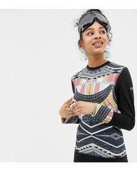 Roxy - Daybreak Long Sleeve Top In Multi Print - Lyst