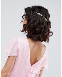 ASOS - Dainty Floral Back Hair Crown - Lyst