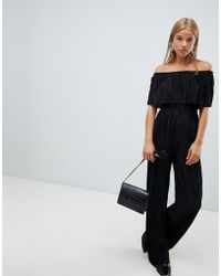 New Look - Plisse Jumpsuit - Lyst