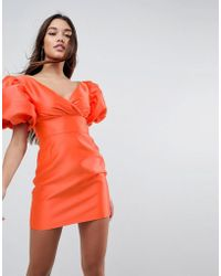 ASOS - Extreme Sleeve Power Shoulder Mini Dress - Lyst