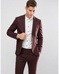 Jack & Jones - Premium Slim Suit Jacket In Herringbone Tweed - Lyst